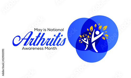 Vector illustration on the theme of National Arthritis awareness month of May Wallpaper Mural