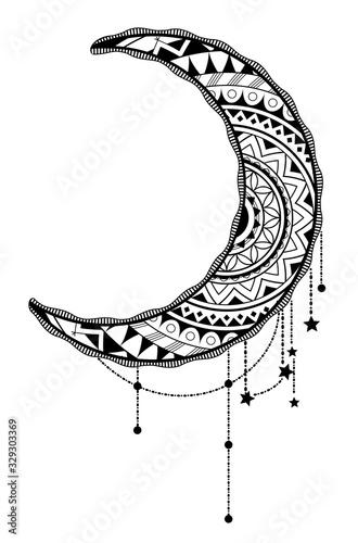 Crescent moon design Fototapete