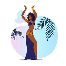 Beautiful Belly Dancer Flat Ve...