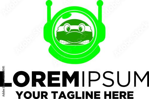 Obraz na plátně Turtle Ninja Astronaut Logo Template