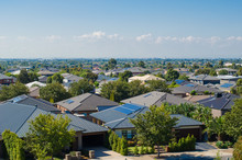 Aerial View Of Residential Hou...