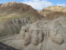 Höhlen Von Qumran In Israel