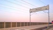Wuhan Train Station Signboard,...