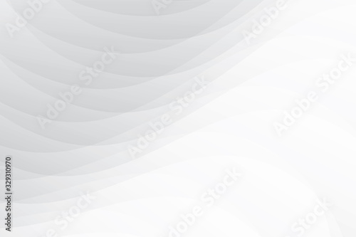 Fototapety, obrazy: Vector abstract geometric white and gray color background.
