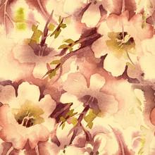 Watercolor Floral Seamless Pat...