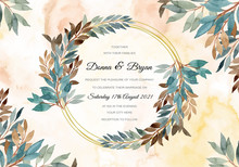 Wedding Invitation Card With G...