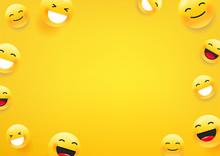 Yellow Cute Faces. Social Medi...