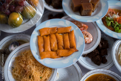 """Photo """"Ade Kembang Tanjong"""" menu Traditional dishes at traditional Acehnese events, Indonesia"""