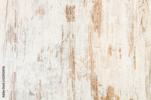Fondo textura de madera blanca rústica con betas y rayas Wallpaper Mural