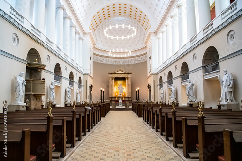 Photo An interior of Church of Our Lady or Copenhagen Cathedral