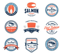 Vector Salmon Logo And Design ...