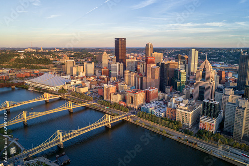 Aerial view of Pittsburgh, Pennsylvania Canvas Print