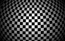 Black And White Sphere Texture...