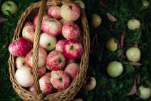 Straw Basket Full Of Fresh Rip...