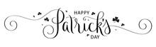 HAPPY PATRICK'S DAY Black Vect...