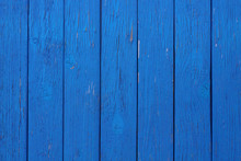 Old Wooden Boards Painted Blue...