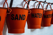 Buckets Filled With Sand And W...