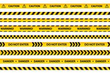 Caution Tape Set, Yellow Warni...