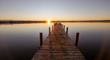 Fototapeta Most - Sunset Seeshaupt Starnberger See with Pier