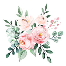 Flowers Watercolor, Floral Blo...