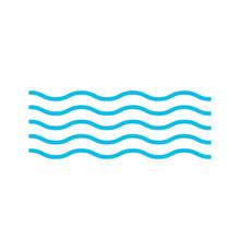 Wave Icon Sea. Vector Illustra...