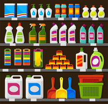 Shop Shelving With Household C...