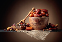 Dates And Dried Fruits, Nuts A...