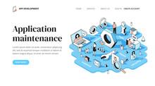 Application Maintenance Isometric Concept