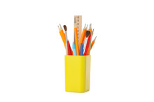 Stationery In Holder Isolated ...