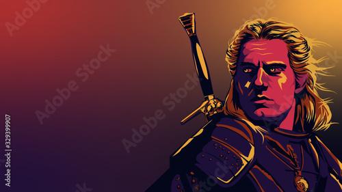 Obraz na plátně The Witcher Netflix Geralt de Rive