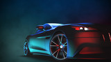 Generic and brandless modern sport car