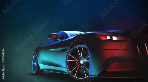 Fototapeta Generic and brandless modern sport car