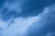 Dark Sky With Gloomy Storm Clo...