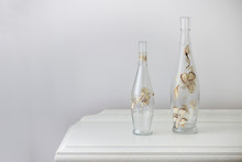Painted Glass Bottle Over An A...