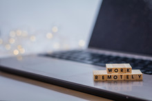Work Remotely Concept To Sugge...