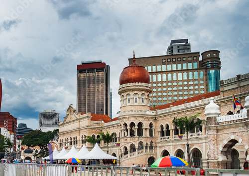 Bangunan Sultan Abdul Samad on Independence Square in Kuala Lumpur, Malaysia Canvas Print