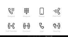 Dial Pad And Mobile Phone Icon...