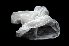 Empty Crumpled Plastic Bag Iso...