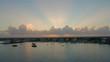 Cozumel Mexico harbor in the sunrise