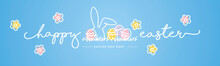 Happy Easter Line Design Bunny...