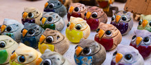 Lucky Owls In Bright Colors Ma...