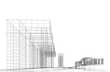 Modern Architecture Building 3d