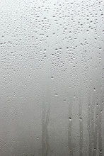 Beautiful Window Glass With Drops Background