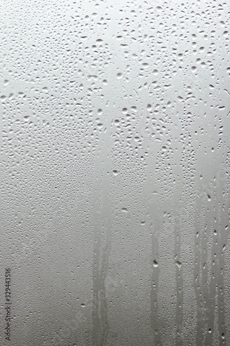 beautiful window glass with drops background Tablou Canvas