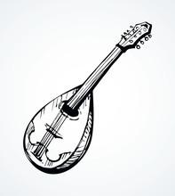 Mandolin. Vector Drawing Icon ...
