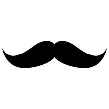 Isolated Mustache Image