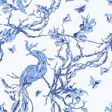 Seamless Chinoiserie Pattern W...
