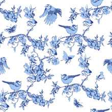 Seamless Chinoiserie Pattern W...