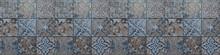 Blue Vintage Retro Geometric S...