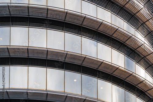 Photo Curved glass office building